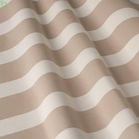 Уличная декоративная ткань в полоску бежевого и белого цвета 84334v6