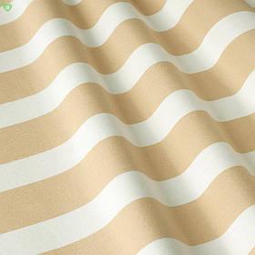Уличная декоративная ткань в полоску белого и бежевого цвета 84329v2