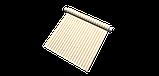 Вулична декоративна тканина в смужку білого та бежевого кольору 84329v2, фото 8