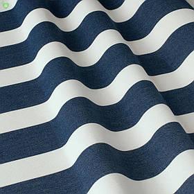 Вулична декоративна тканина смуга синя і біла 84316v1