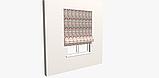 Декоративная ткань с разноцветными зигзагами на белом фоне для покрывала 84305v1, фото 4