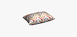 Декоративная ткань с разноцветными зигзагами на белом фоне для покрывала 84305v1, фото 7