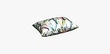 Декоративная ткань с голубыми растениями и розовыми фламинго на белом для подушек на диван 84301v1, фото 6