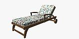 Декоративная ткань с голубыми растениями и розовыми фламинго на белом для подушек на диван 84301v1, фото 7