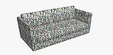 Декоративная ткань с голубыми растениями и розовыми фламинго на белом для подушек на диван 84301v1, фото 8