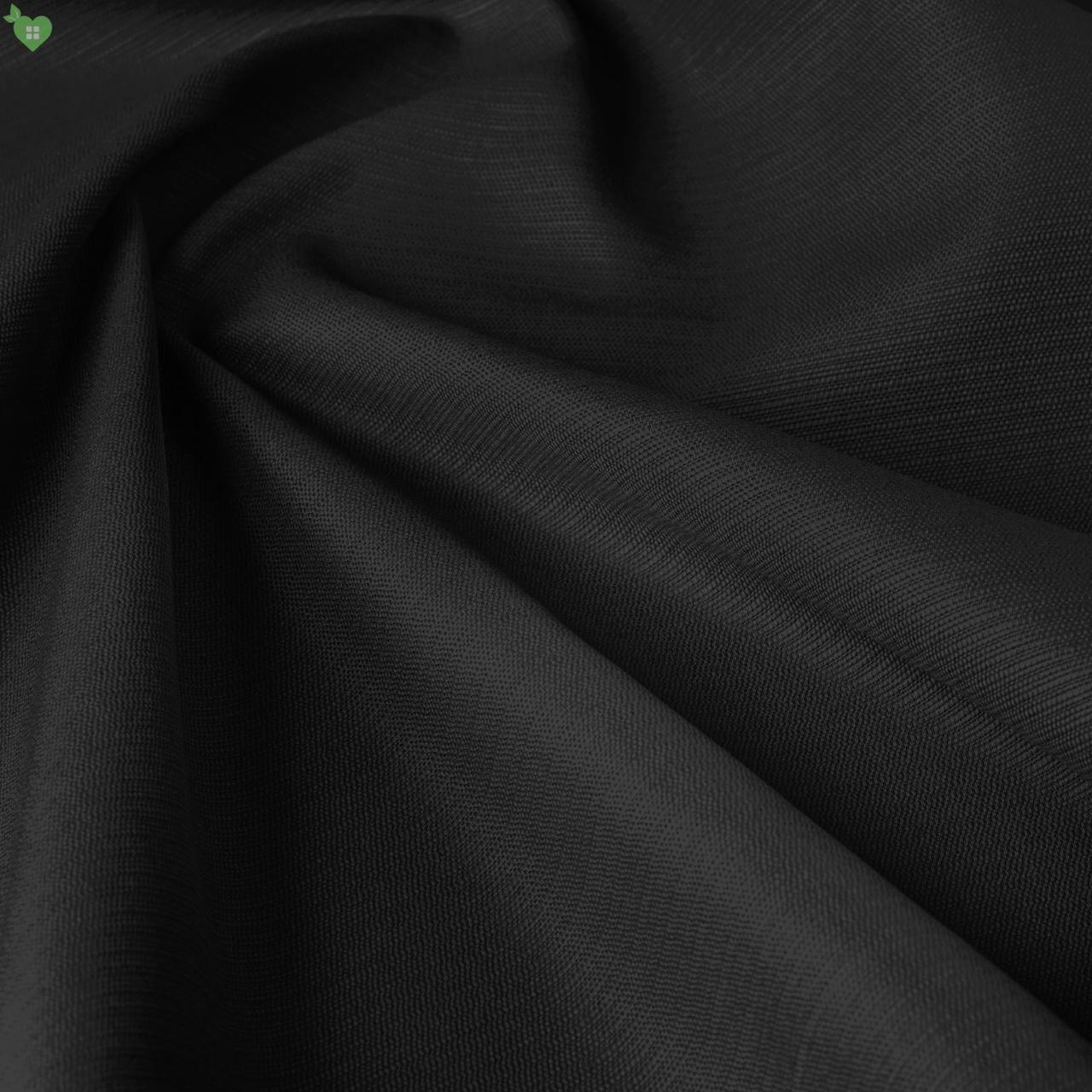 Вулична фактурна тканина чорного кольору для садових меблів 84266v16
