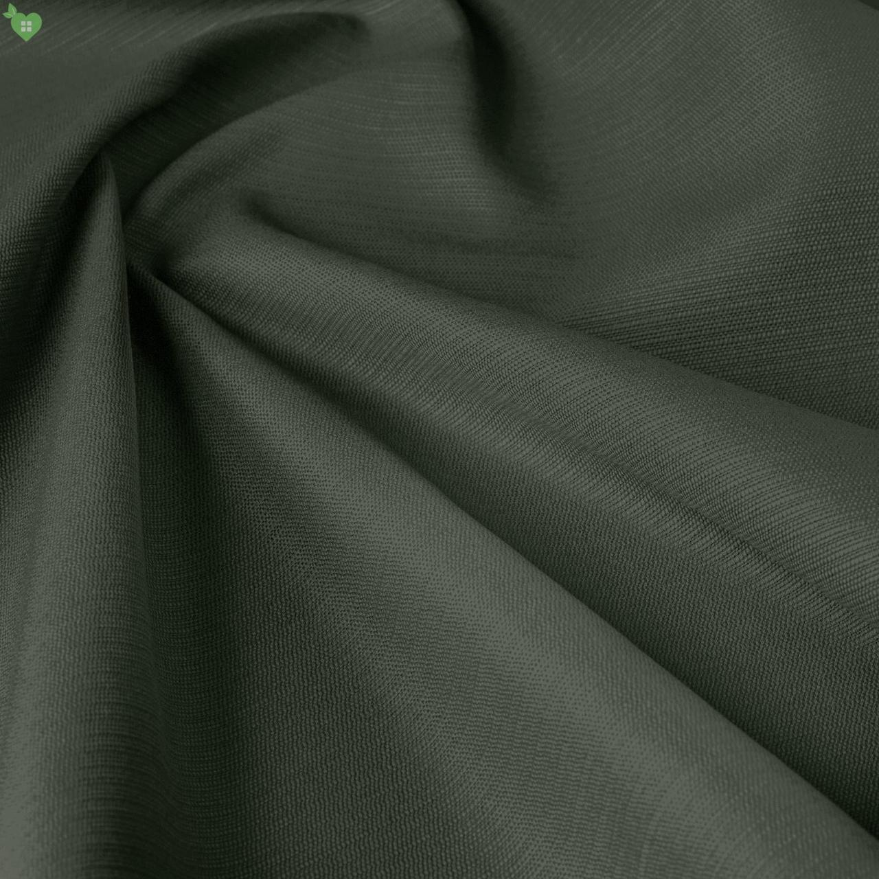 Уличная ткань с фактурой темно-зеленого цвета для штор на открытую веранду 84265v15