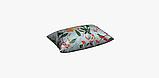 Декоративная ткань с крупными цветными растениями и птицами на голубом 84296v1, фото 6