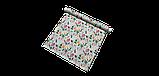 Декоративная ткань с крупными цветными растениями и птицами на голубом 84296v1, фото 9