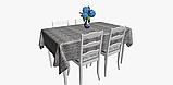 Декоративні тканини з сірим абстрактним візерунком 84293v2, фото 5