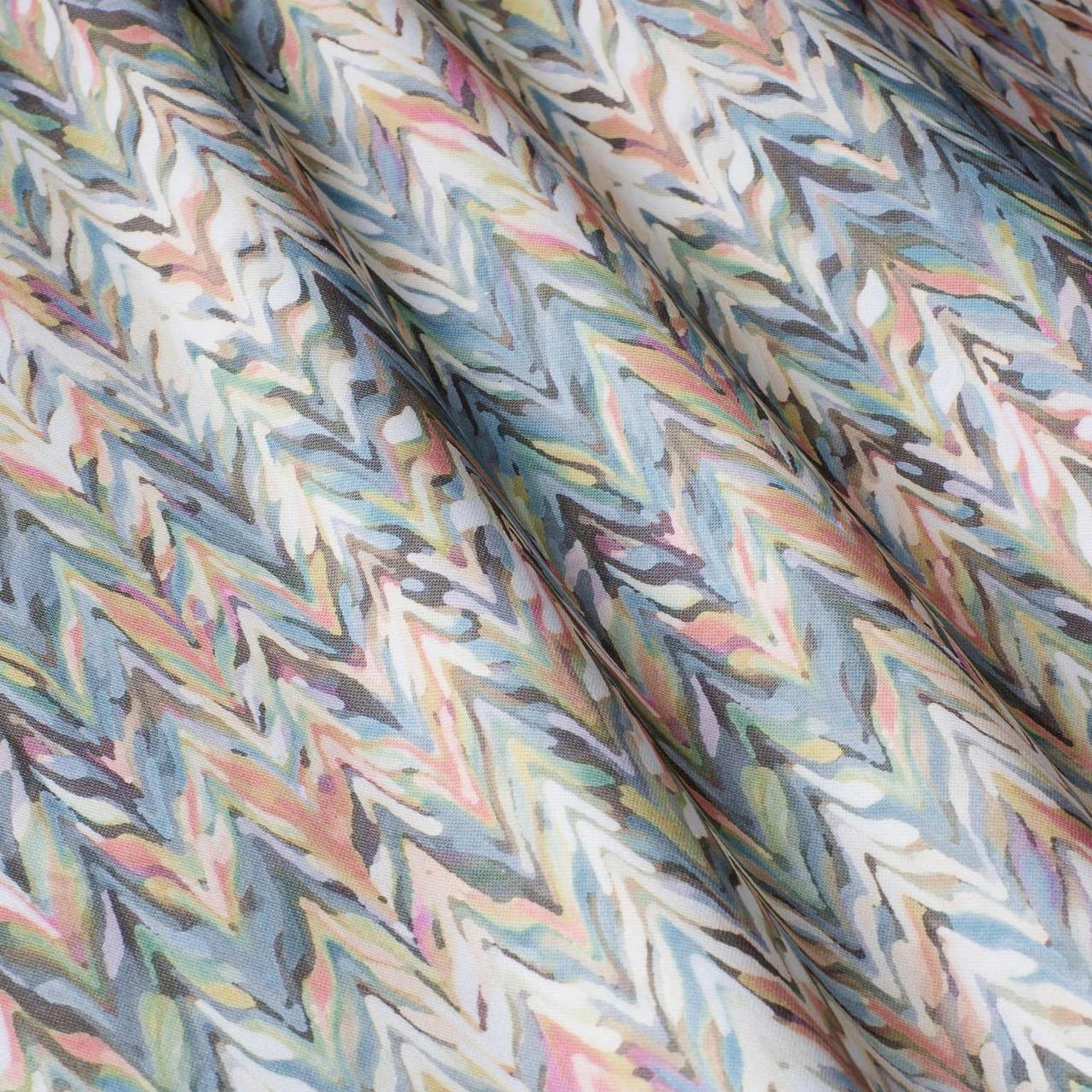 Декоративная ткань с цветным абстрактным узором 84292v1