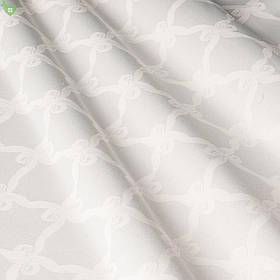 Скатертная ткань для ресторана с ромбовидным вензелем молочного цвета Италия 83545v1