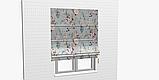 Декоративная ткань с мелкими бутонами розовых и бежевых цветов на голубом фоне Испания 400342v83432v3, фото 3