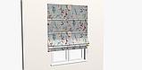 Декоративная ткань с мелкими бутонами розовых и бежевых цветов на голубом фоне Испания 400342v83432v3, фото 9