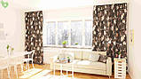 Декоративна тканина з дрібними бутонами блякло-бордових троянд на чорному Іспанія 400342v83433v1, фото 2