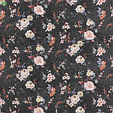 Декоративна тканина з дрібними бутонами блякло-бордових троянд на чорному Іспанія 400342v83433v1, фото 3