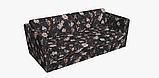 Декоративна тканина з дрібними бутонами блякло-бордових троянд на чорному Іспанія 400342v83433v1, фото 7