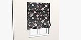Декоративна тканина з дрібними бутонами блякло-бордових троянд на чорному Іспанія 400342v83433v1, фото 8