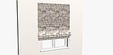 Декоративная ткань с тропическими растениями серого цвета на желто-бежевом Испания 83429v1, фото 7