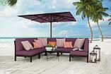 Однотонная уличная ткань розовая с водоотталкивающими свойствами Испания 83392v20, фото 2
