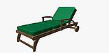 Однотонна вулична тканину зеленого кольору Іспанія 83400v29, фото 4