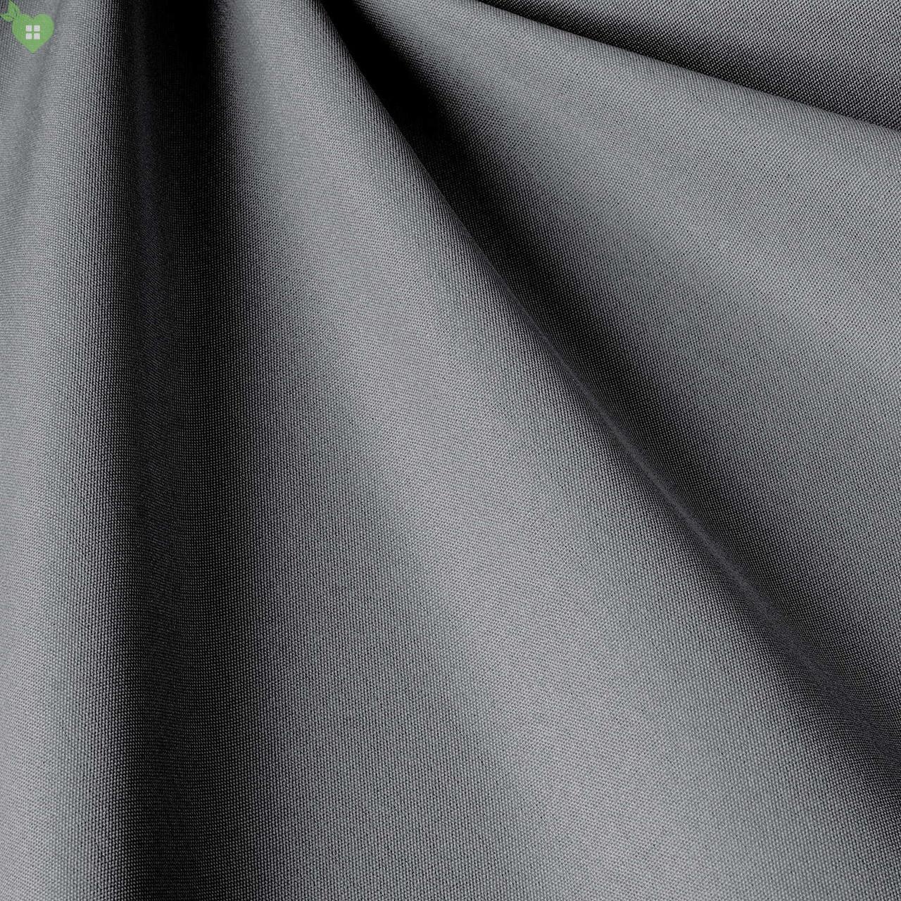 Однотонная уличная ткань серого цвета Испания 83407v34