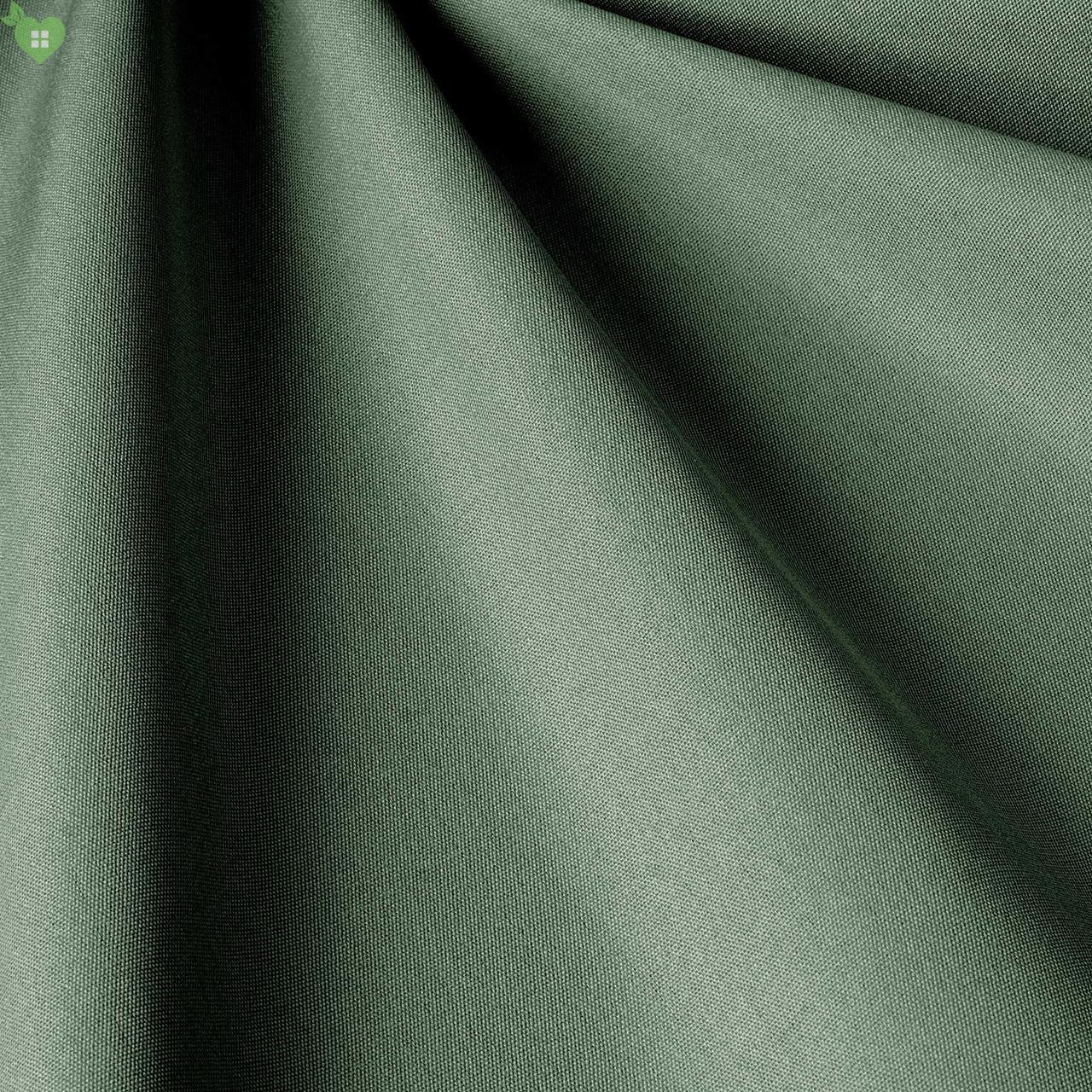 Однотонная уличная ткань темно-зеленого цвета Испания 83408v35