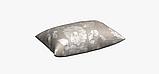 Декоративна тканина білі контурні квіти на льоні 280см 83359v1, фото 3