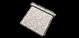 Декоративна тканина білі контурні квіти на льоні 280см 83359v1, фото 7