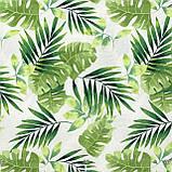 Декоративная ткань зеленые листья тропических растений Испания 83354v1, фото 3