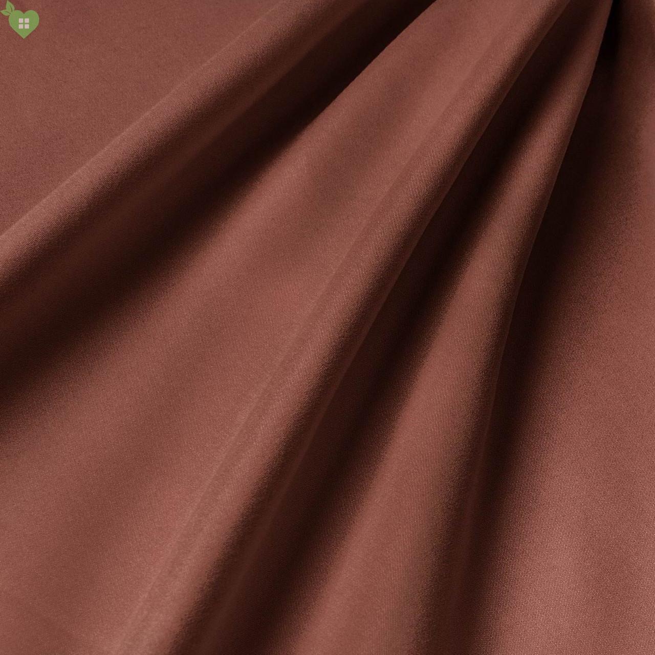 Підкладкова тканина з персикової фактурою темного червоно-оранжевого кольору іспанська 83315v18
