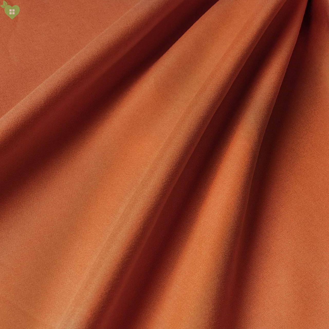 Підкладкова тканина з персикової фактурою темно-морквяного кольору Іспанія 83307v10