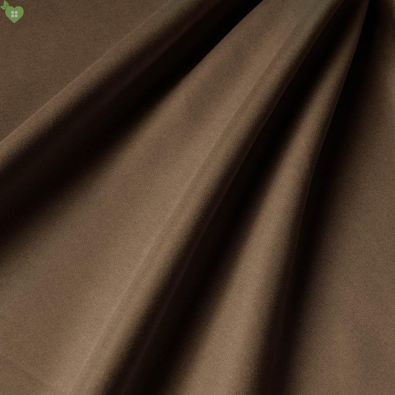 Подкладочная ткань матовая фактура цвета коричневого шоколада Испания 83304v7