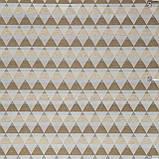Декоративная ткань с рисунком искаженной шахматной доски бежевого цвета Испания 83292v1, фото 3