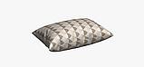 Декоративная ткань с рисунком искаженной шахматной доски бежевого цвета Испания 83292v1, фото 4