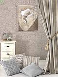 Декоративна тканина з сріблястим класичним візерунком на сірому тлі жаккард Іспанія 83290v1, фото 2