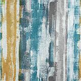 Декоративная ткань с размытыми голубыми и коричневыми полосами Испания 83297v3, фото 2