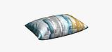 Декоративная ткань с размытыми голубыми и коричневыми полосами Испания 83297v3, фото 3