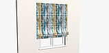 Декоративная ткань с размытыми голубыми и коричневыми полосами Испания 83297v3, фото 5