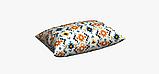 Декоративна тканина в дрібні помаранчеві і блакитні ромби на білому Іспанія 83278v1, фото 5