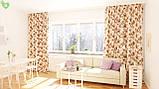 Декоративная ткань веточки бордовых и фиолетовых роз Турция 81441v6, фото 2