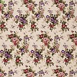 Декоративная ткань веточки бордовых и фиолетовых роз Турция 81441v6, фото 3