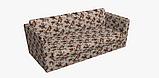 Декоративная ткань веточки бордовых и фиолетовых роз Турция 81441v6, фото 6