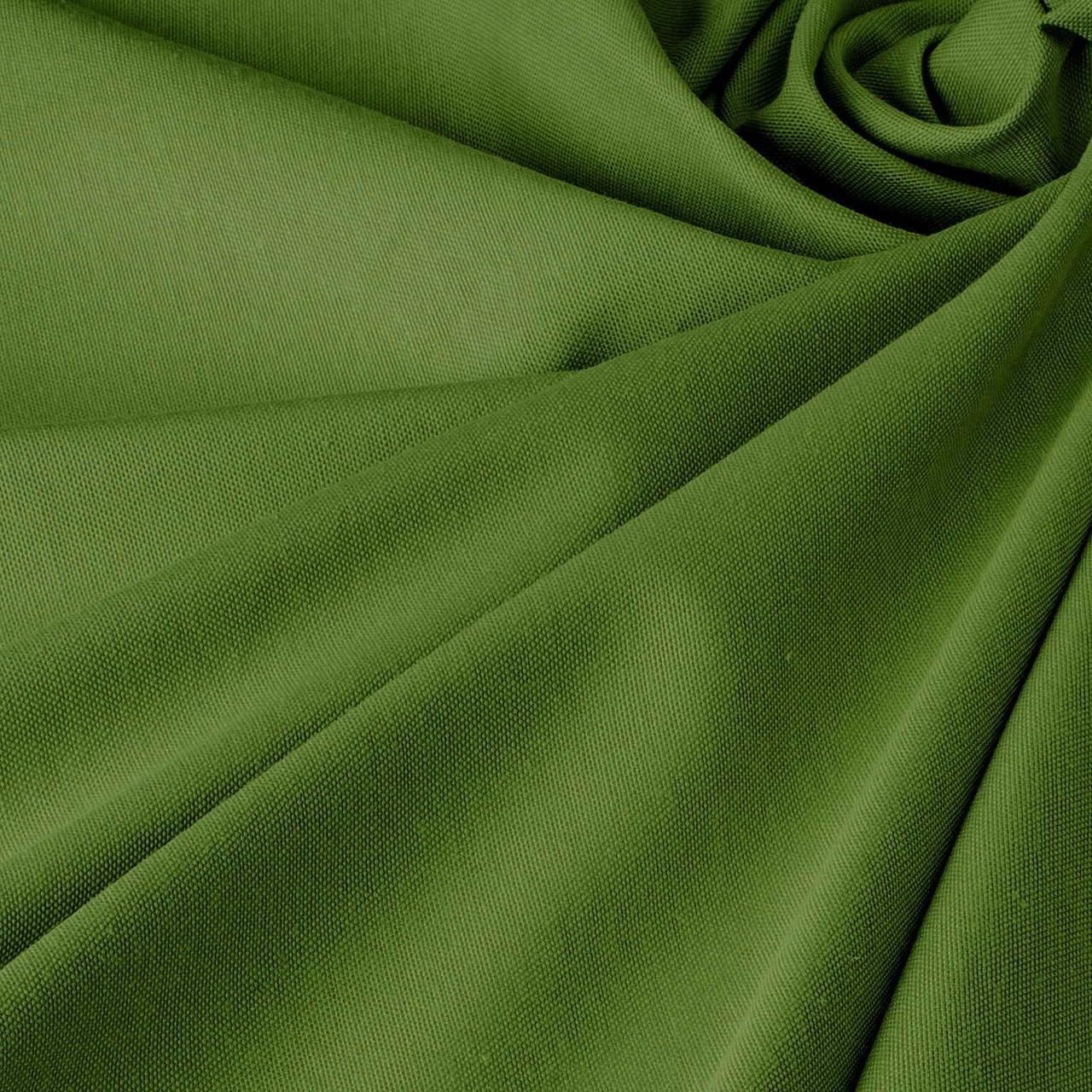 Однотонна декоративна тканина кольору зелені з тефлоном TDRY-81013