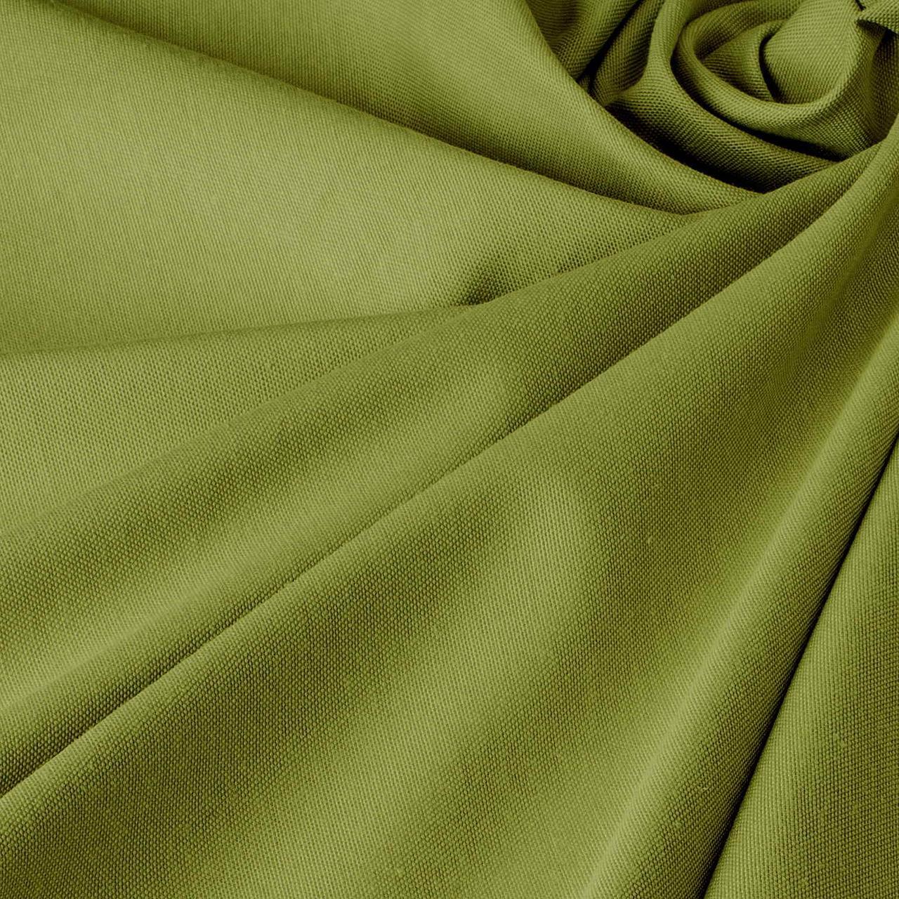 Однотонна декоративна тканина лісовий зелений тефлон TDRY-81126