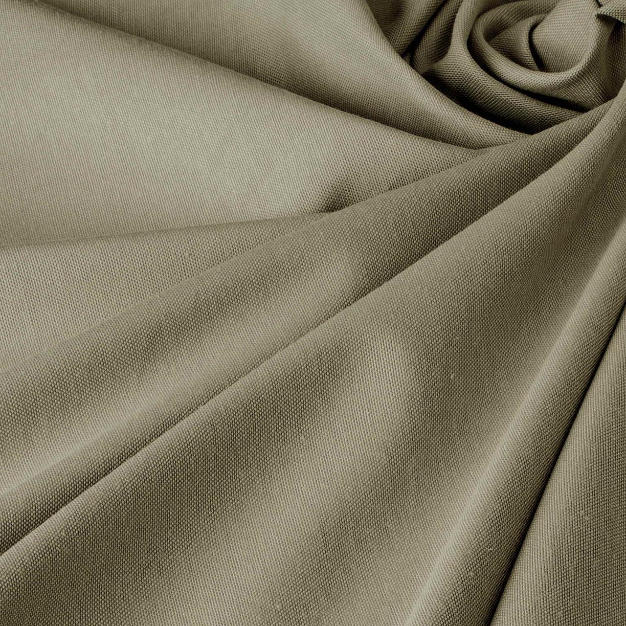 Однотонна декоративна тканина сірого кольору з тефлоном TDRM-81192