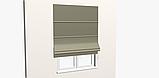 Однотонна декоративна тканина сірого кольору з тефлоном TDRM-81192, фото 6