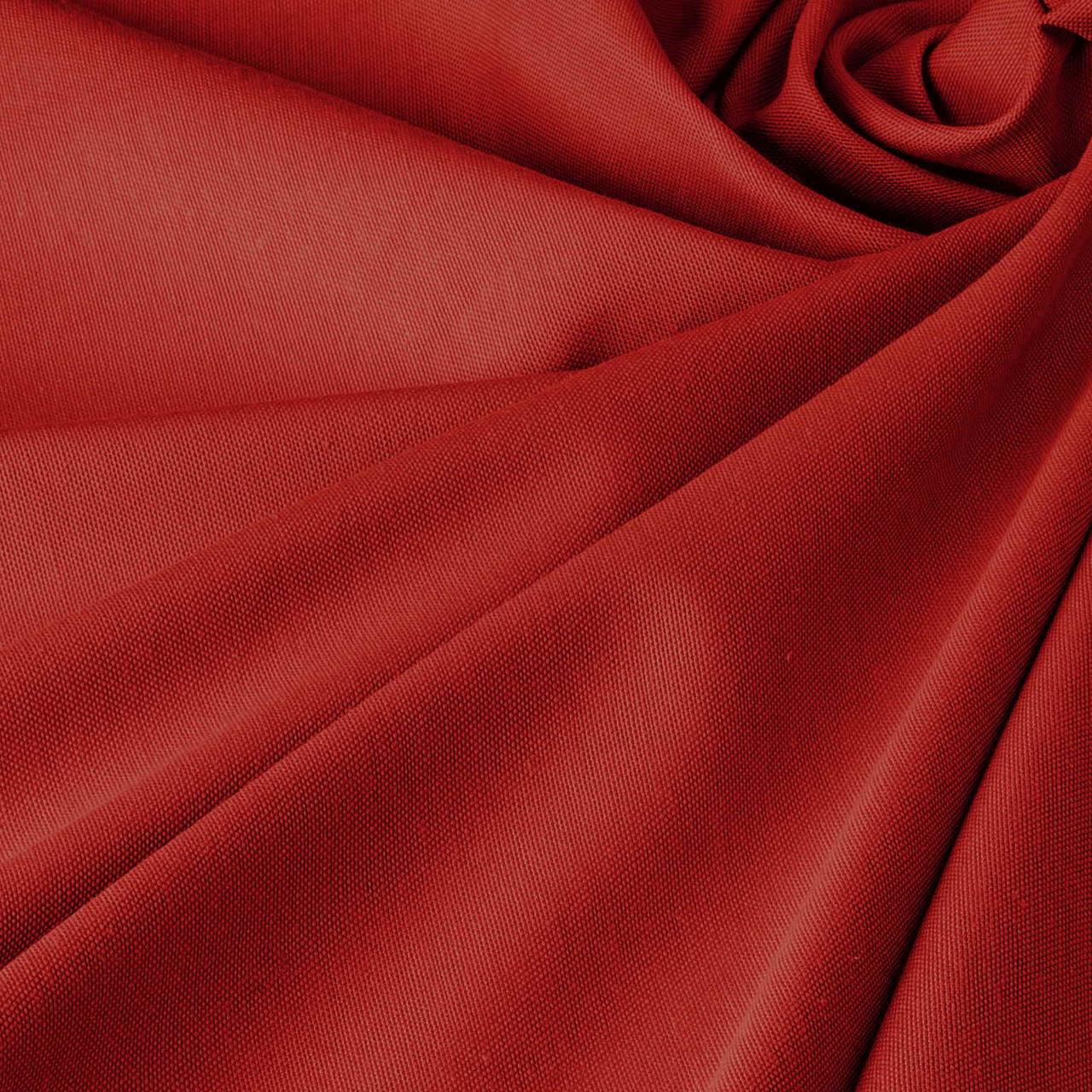 Однотонная декоративная ткань люминесцентно-красного цвета с тефлоном TDRK-81005