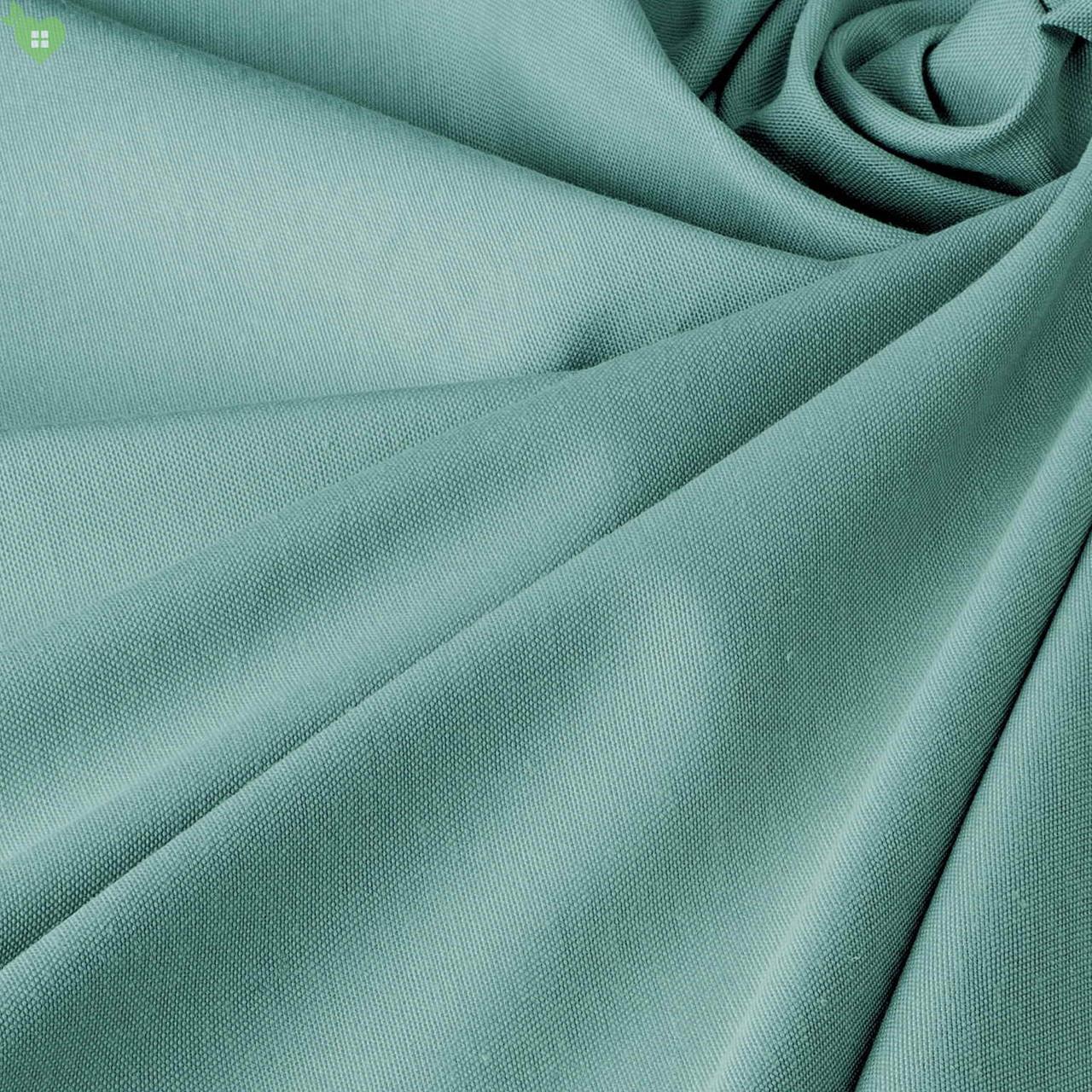 Однотонная декоративная ткань бледно-синего цвета с тефлоном DRM-82760