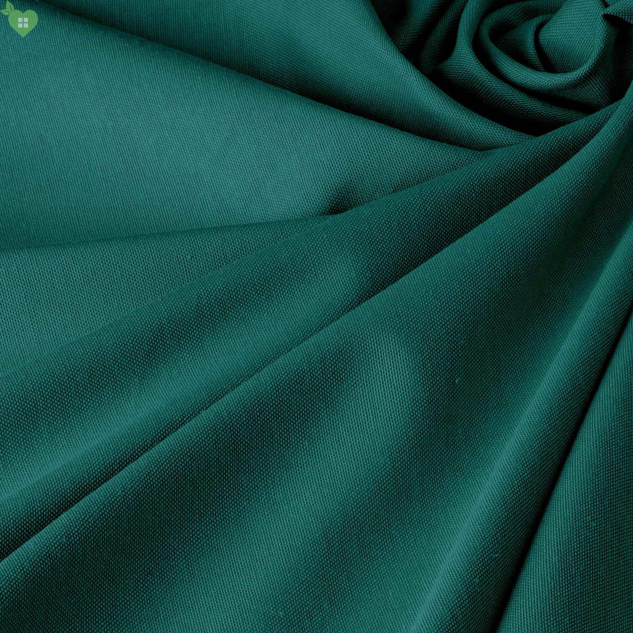 Однотонна декоративна тканина кольору темної бірюзи Туреччина DRM-82556